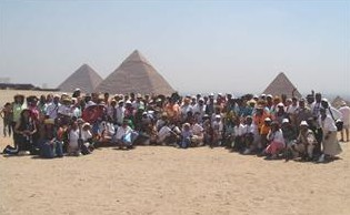 d'Zert Club Class of 2007 at the Pyramids in Egypt -- Ron Allen photo --